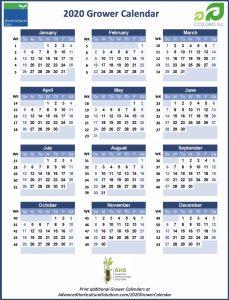 2020 Grower Calendar