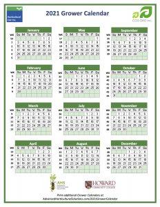 2021 Grower Calendar